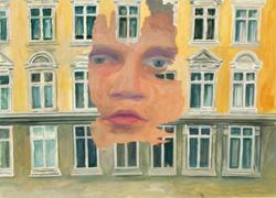 """Galerie Giti Nourbakhsch- Alle Arbeiten hier nach Filmstills des Films """"Depressionismus"""" (2002) von Jörn Staeger - - reski_depress7"""